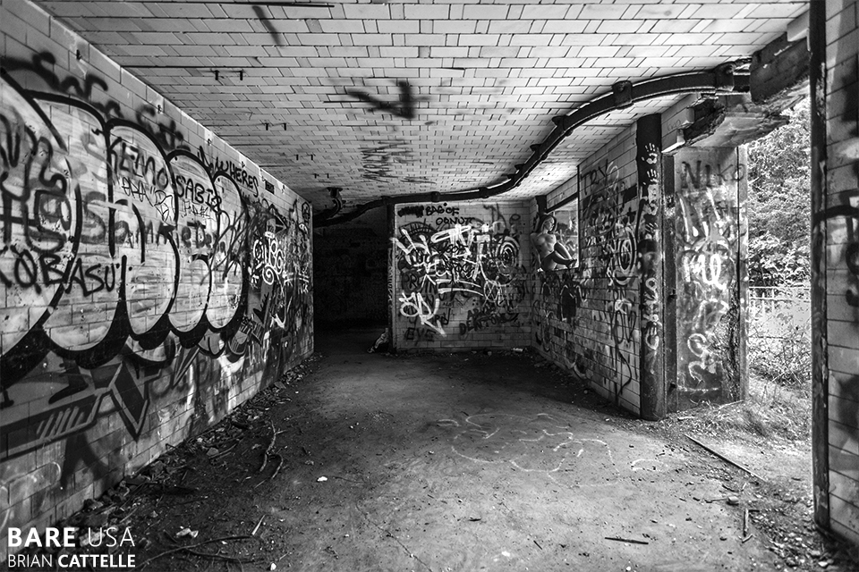 Abandoned Ft Wetherill in Jamestown Rhode Island